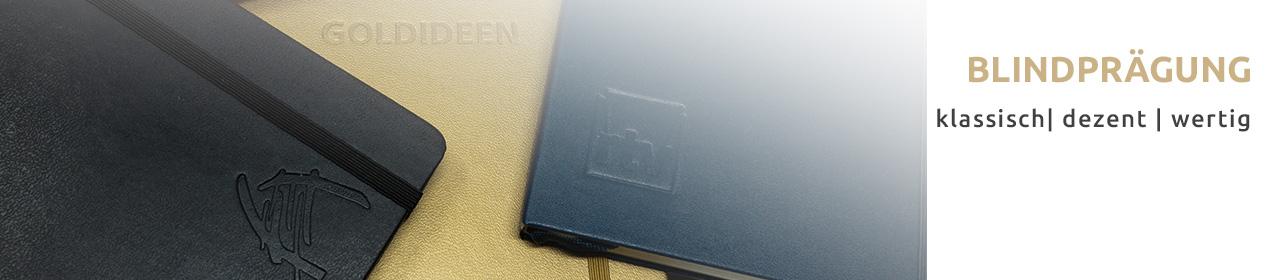 Blindprägung | Die klassische Form ein Notizbuch zu personalisieren