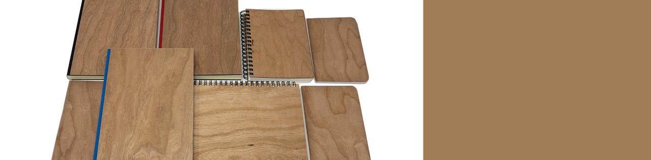 Notizbuch mit Holzcover