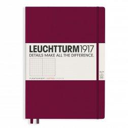 """Leuchtturm1917 Notizbuch """"L"""" port red dotted"""