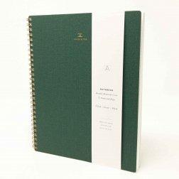 Appointed Notizbuch dunkelgrün kariert