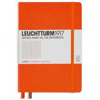 "Leuchtturm1917 Notizbuch ""L"" slim orange kariert"