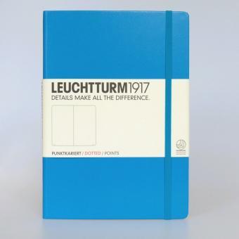 """Leuchtturm1917 Notizbuch """"M"""" azur dotted"""