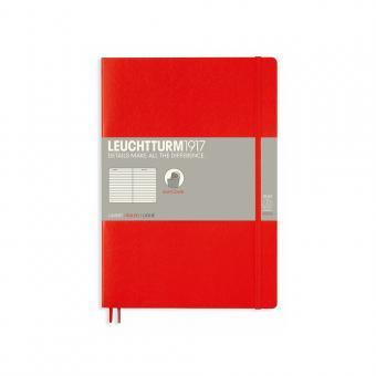 Leuchtturm1917 Notizbuch Softcover rot liniert