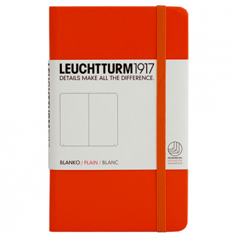 "Leuchtturm1917 Notizbuch ""M"" orange blanko"