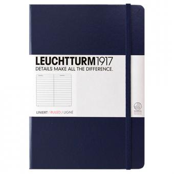 """Leuchtturm1917 Notizbuch """"M"""" marine liniert"""