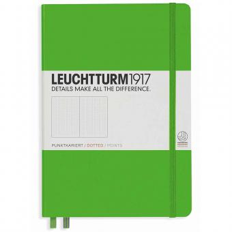 "Leuchtturm1917 Notizbuch ""M"" fresh green dotted"
