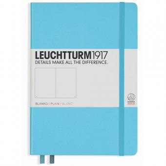 "Leuchtturm1917 Notizbuch ""M"" ice blue blanko"