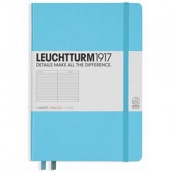 """Leuchtturm1917 Notizbuch """"M"""" ice blue liniert"""
