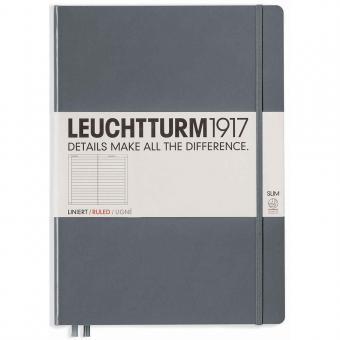 """Leuchtturm1917 Notizbuch """"L"""" slim anthrazit liniert"""