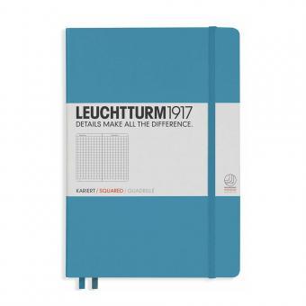 "Leuchtturm1917 Notizbuch ""L"" slim nordic blue kariert"