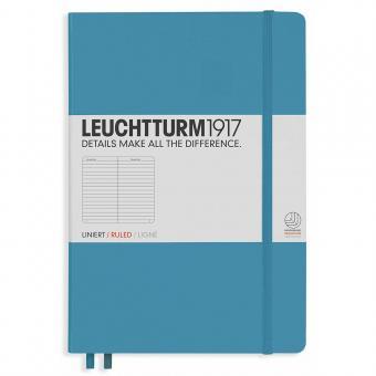 """Leuchtturm1917 Notizbuch """"M"""" nordic blue liniert"""