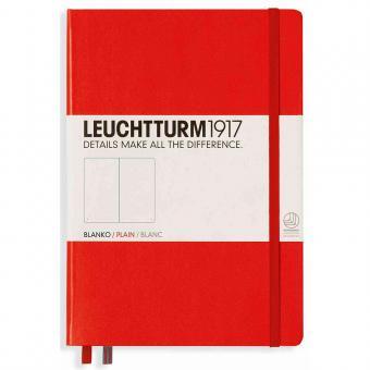"""Leuchtturm1917 Notizbuch """"M"""" rot blanko"""