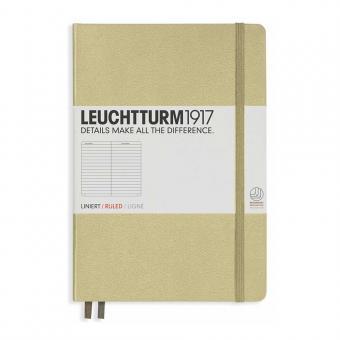 """Leuchtturm1917 Notizbuch """"M"""" sand liniert"""