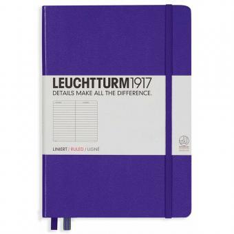 """Leuchtturm1917 Notizbuch """"M"""" violett liniert"""