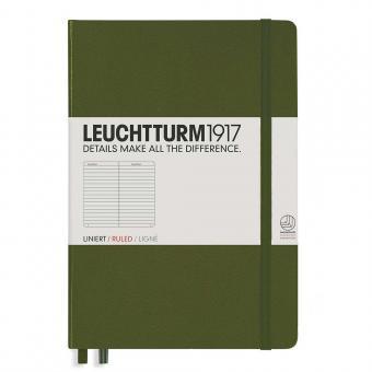 """Leuchtturm1917 Notizbuch """"M"""" army liniert"""