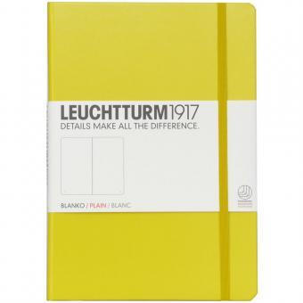 "Leuchtturm1917 Notizbuch ""M"" zitrone blanko"