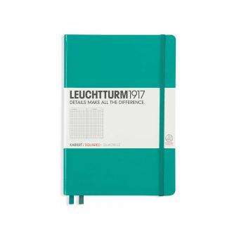 """Leuchtturm1917 Notizbuch """"M"""" smaragd liniert"""