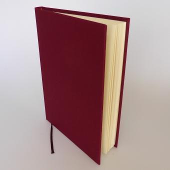 """Semikolon Classic Notizbuch """"M"""" Leinen burgund"""