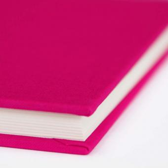 "Semikolon Classic Notizbuch ""S"" Leinen pink"