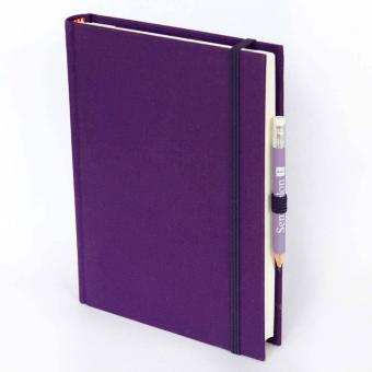 "Semikolon Grand Voyage Notizbuch ""M"" Leinen lila"
