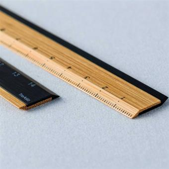 Lineal Bambus schwarz
