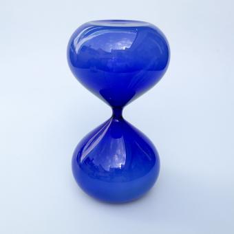 Sanduhr blau 15 Minuten