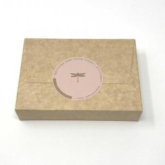 Notizblock rosé mit Libelle