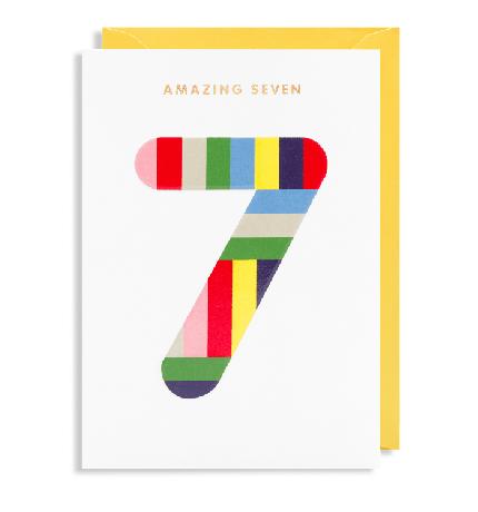 Grußkarte 7. Geburtstag