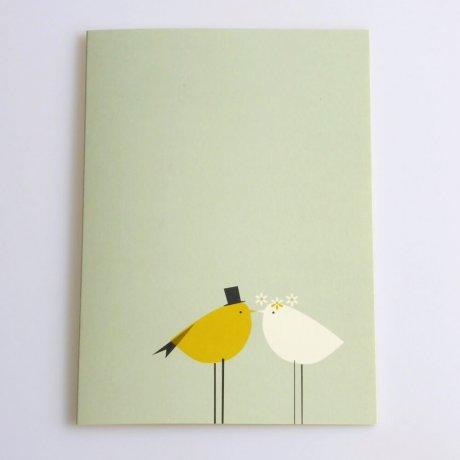 Grußkarte Vogelhochzeit 1