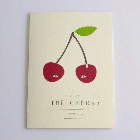 Grußkarte Kirsche 1