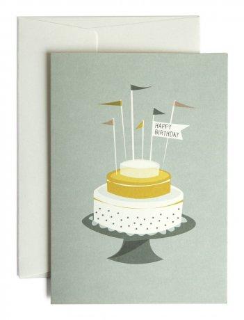 Grußkarte Geburtstagstorte