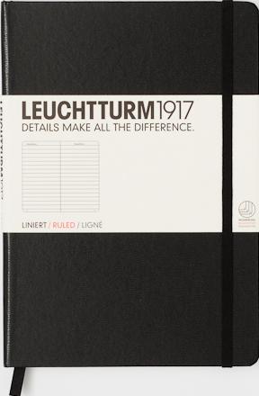 """Leuchtturm1917 Notizbuch """"S"""" schwarz liniert 1"""