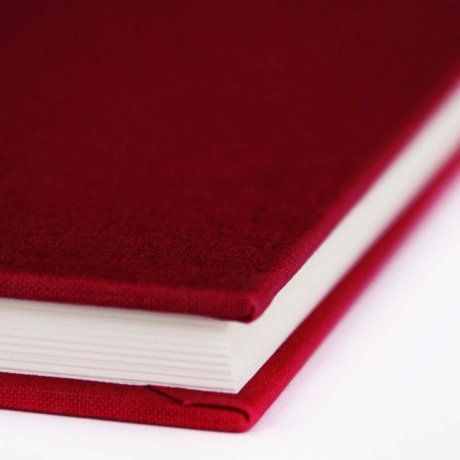 """Semikolon Classic Notizbuch """"M"""" Leinen burgund 1"""