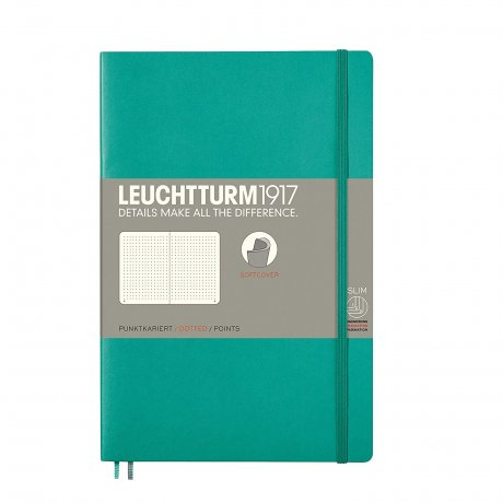 Leuchtturm1917 Paperback Softcover smaragd grün dotted 1
