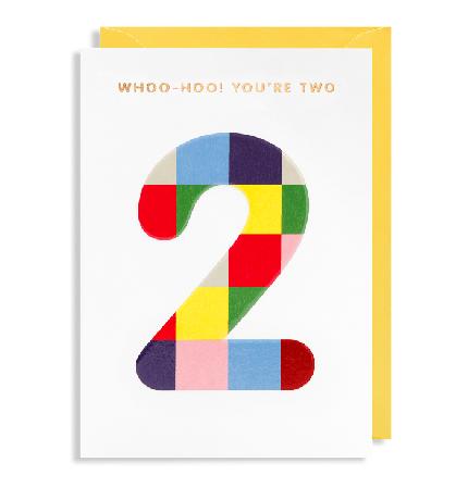Grußkarte 2. Geburtstag