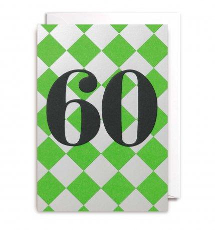 Grußkarte 60. Geburtstag