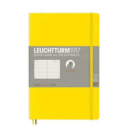 Leuchtturm1917 Paperback Softcover gelb liniert 1