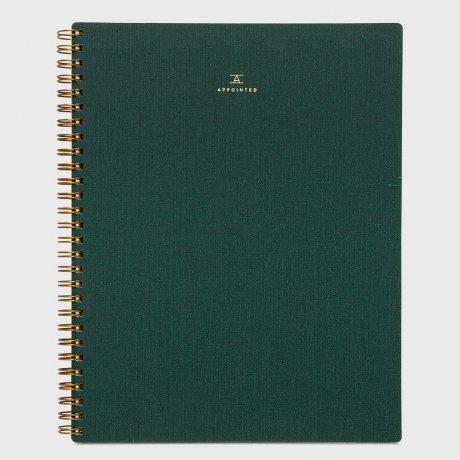 Appointed Notizbuch dunkelgrün blanko 1