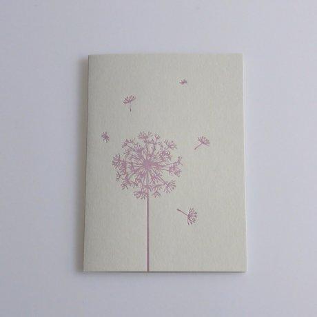 Grußkarte Löwenzahn rosa 1