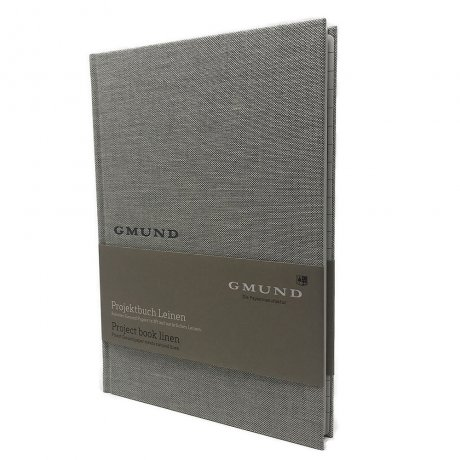 Gmund Projektbuch Leinen shade A4 1
