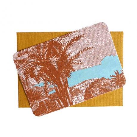 Grußkärtchen Palme 1