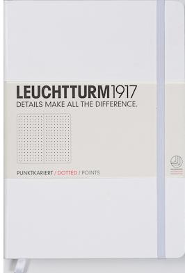 """Leuchtturm1917 Notizbuch """"S"""" weiß dotted"""