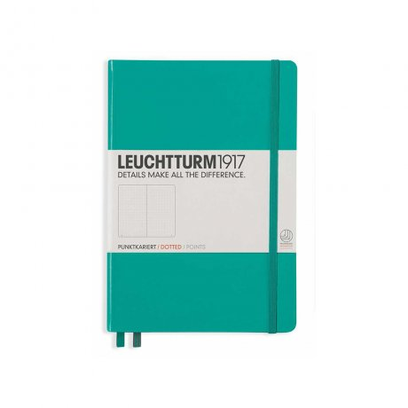 "Leuchtturm1917 Notizbuch ""M"" smaragd dotted 1"