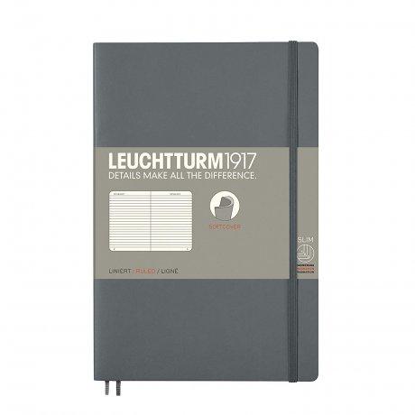 Leuchtturm1917 Paperback Softcover anthrazit liniert 1