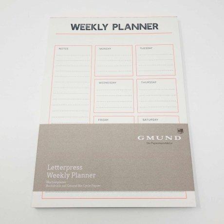Gmund Letterpress Weekly Planner 1