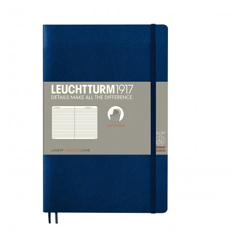 Leuchtturm1917 Paperback Softcover marine liniert 1