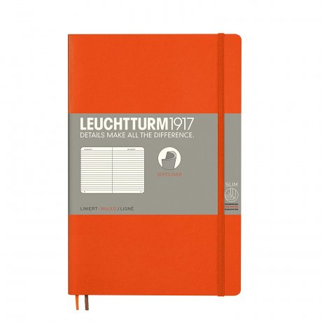 Leuchtturm1917 Paperback Softcover orange liniert