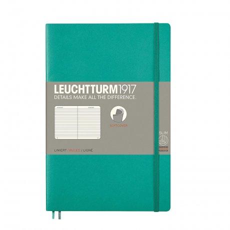 Leuchtturm1917 Paperback Softcover smaragd grün liniert 1