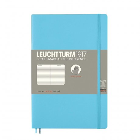 Leuchtturm1917 Paperback Softcover ice blue liniert 1