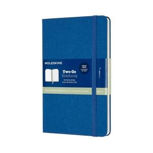 MOLESKINE® Two-Go Notizbuch Leineneinband blau 1